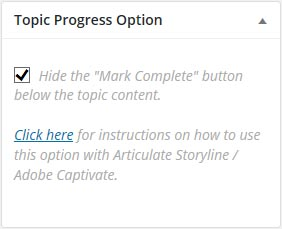 Hide Mark Complete Screenshot